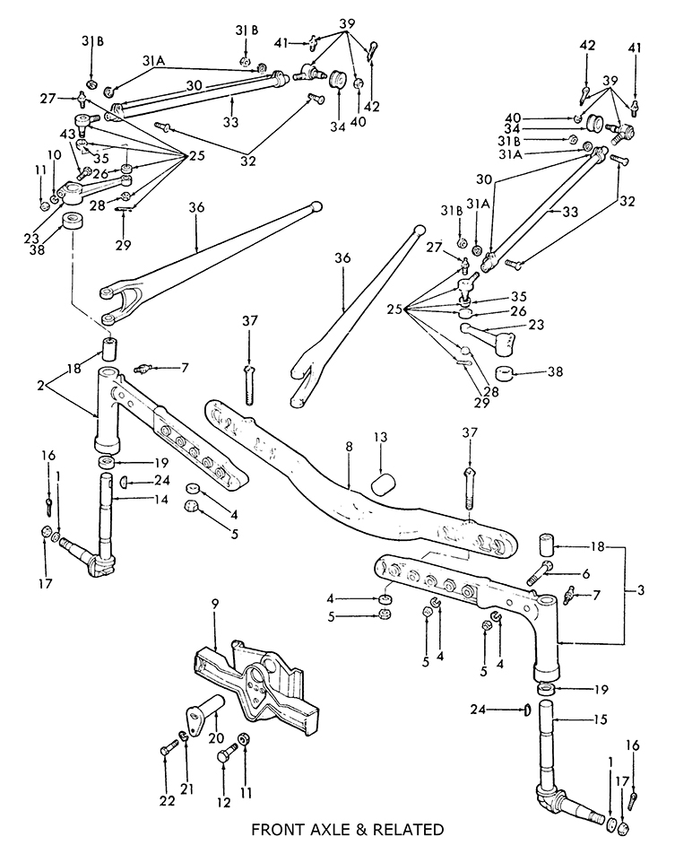8n Ford Tractor Steering Parts On 3000 Ford Tractor Wiring Diagram