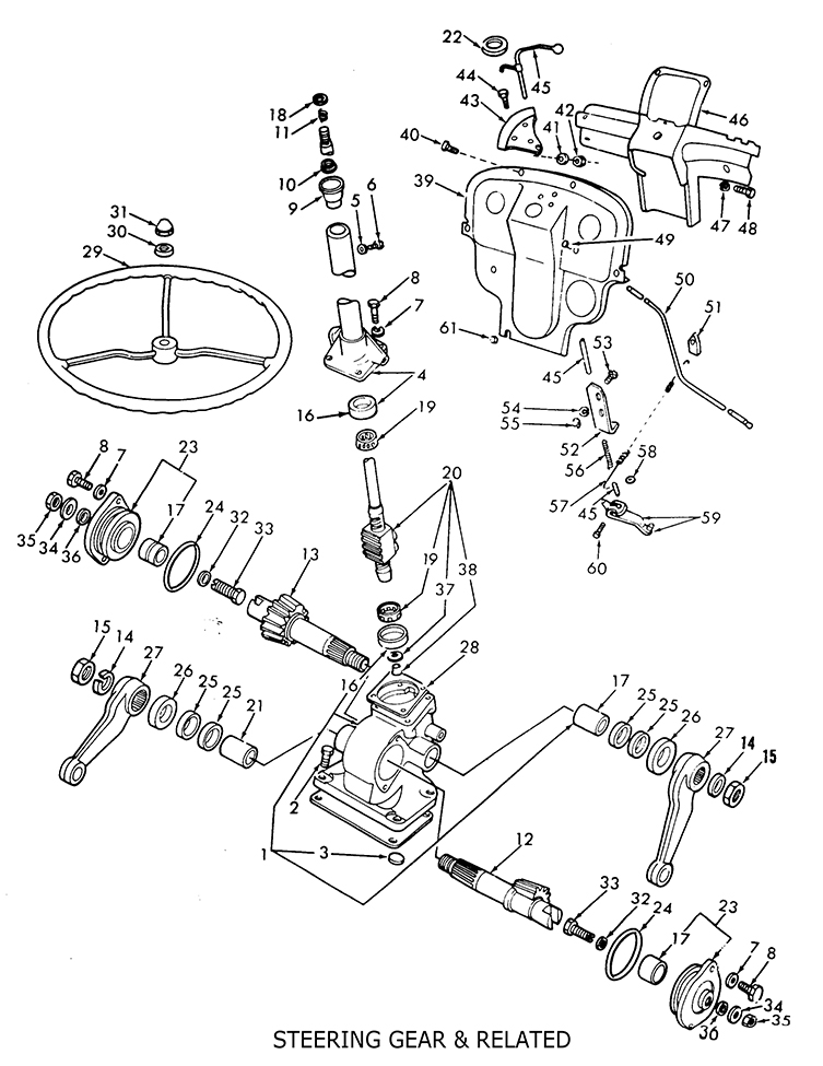 Ford 8n Steering Diagram